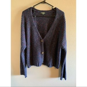 Blue v-neck sweater/cardigan